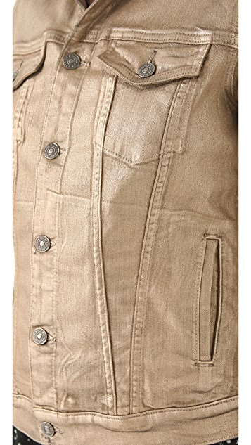 7 For All Mankind Denim Jacket in Metallic Wash