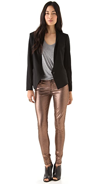 7 For All Mankind Liquid Metallic Skinny Jeans