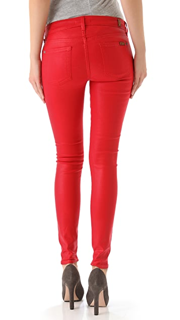 7 For All Mankind The Skinny Coated Gummy Jeans