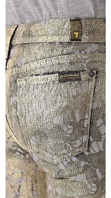 7 For All Mankind Metallic Jacquard Skinny Pants