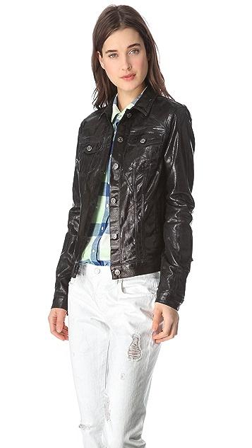 7 For All Mankind Moto Coated Denim Jacket
