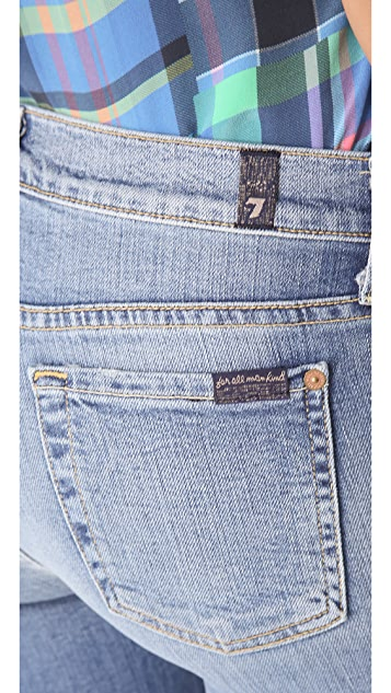 7 For All Mankind Crop & Roll Skinny Jeans