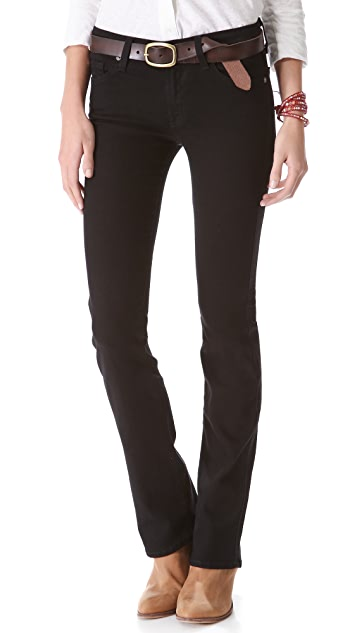 7 For All Mankind Second Skin Slim Illusion Boot Cut Jeans