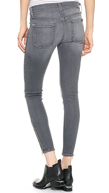 7 For All Mankind The Skinny Jeans with Ankle Zips