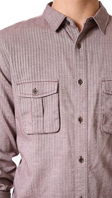 7 For All Mankind Herringbone Sport Shirt