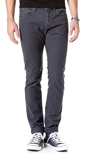 7 For All Mankind Paxtyn Houndstooth Skinny Leg Jeans