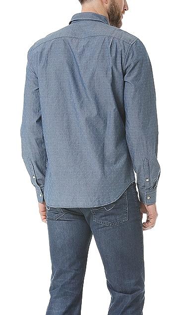 7 For All Mankind Indigo Jacquard Sport Shirt