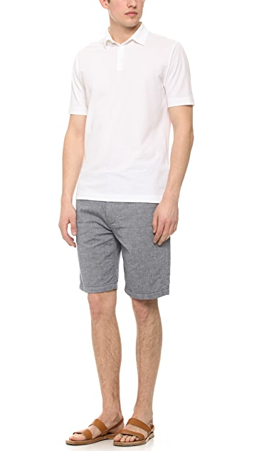 7 For All Mankind Double Face Stripe Shorts