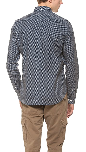 7 For All Mankind Printed Dobby Shirt