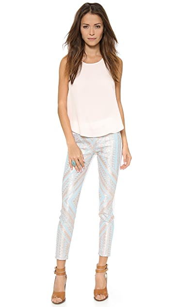 7 For All Mankind The Mahlia Kent Pieced Skinny Ankle Jeans