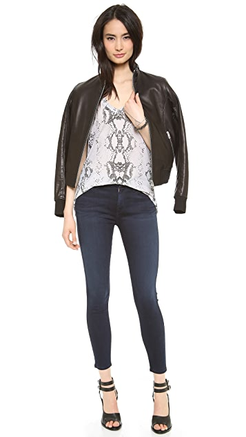 7 For All Mankind Mid Rise Crop Skinny Jeans