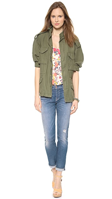 7 For All Mankind Josephina Destroyed Jeans with Rolled Hem