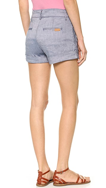 7 For All Mankind Pleated Shorts with Cuff