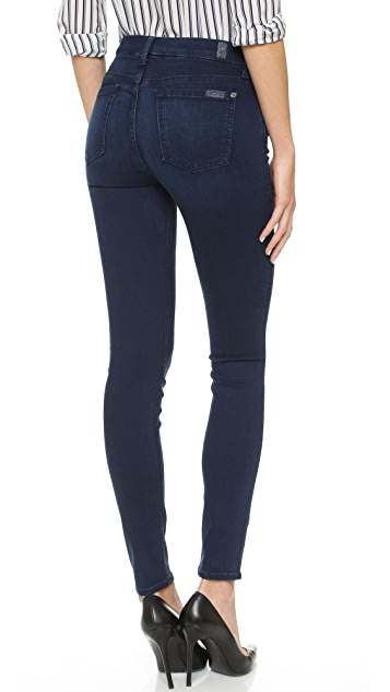 7 For All Mankind The Mid Rise Slim Illusion Luxe Skinny Jeans