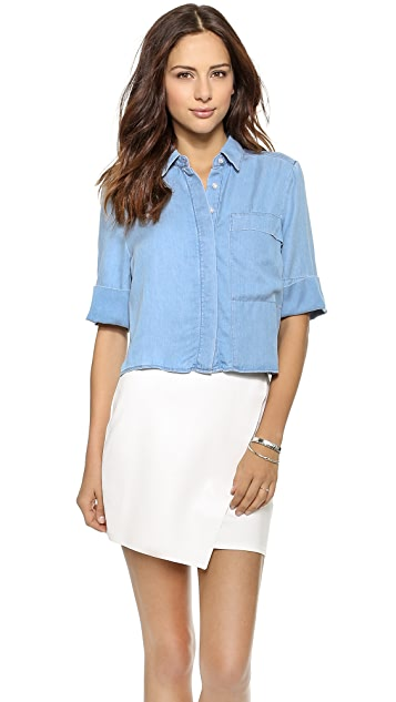 7 For All Mankind Short Sleeve Shirt with Long Pocket