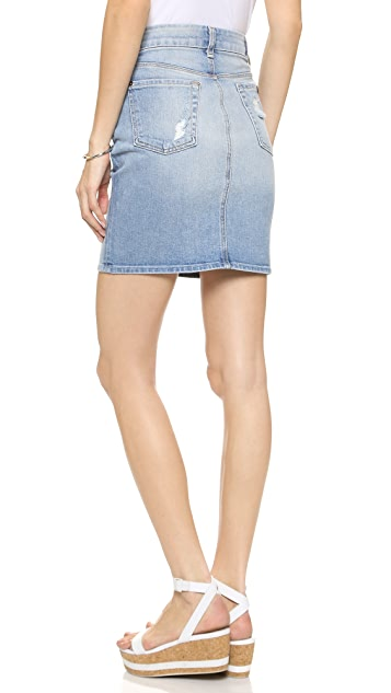 20b42f680860 7 For All Mankind Mid Length Destroyed Pencil Skirt | SHOPBOP