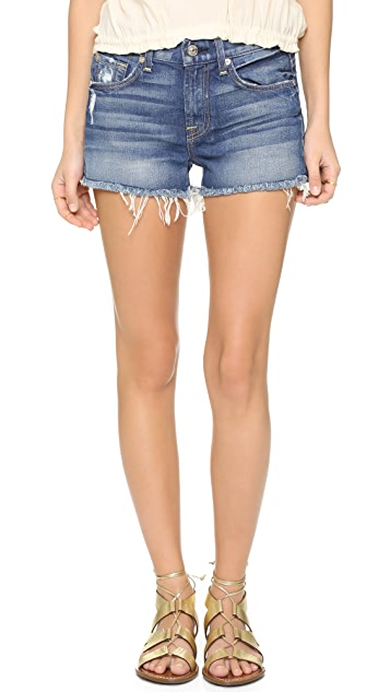 7 For All Mankind Distressed Cutoff Shorts