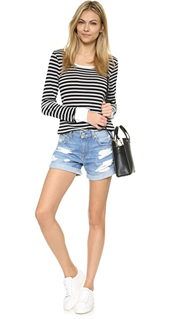 7 For All Mankind Relaxed Mid Roll Shorts