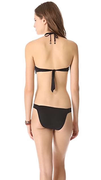 Seventh Wonderland Tiramisu Split Binding Bandeau Bikini