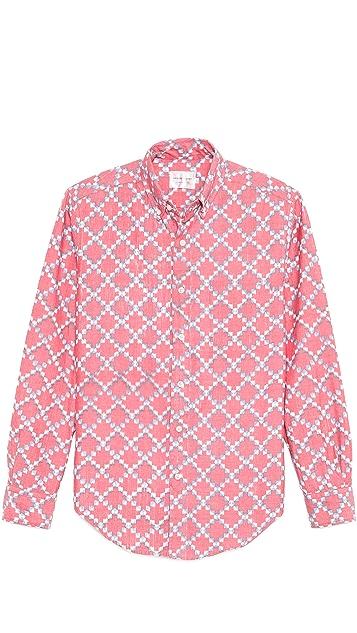 Shades of Grey by Micah Cohen Diamond Print Slim Shirt