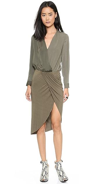 Shades of Grey by Micah Cohen Crossover Sarong Dress