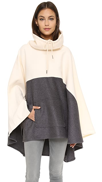 Shades of Grey by Micah Cohen Colorblock Ponocho