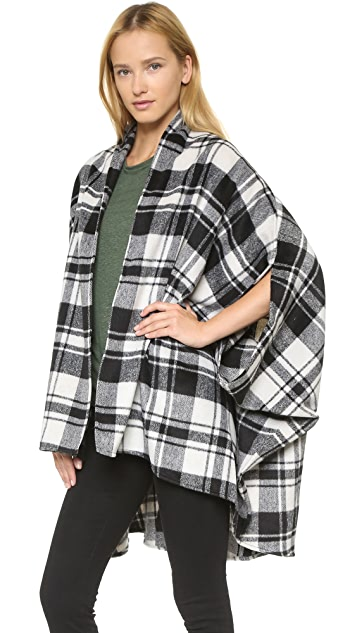 Shades of Grey by Micah Cohen Plaid Cocoon Cape