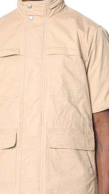 Shades of Grey by Micah Cohen Short Sleeve Safari Jacket