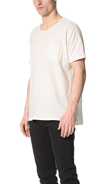 Shades of Grey by Micah Cohen Rolled Cuff Pocket Tee