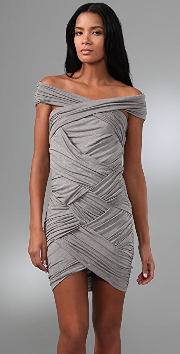 Shakuhachi Bandage Off Shoulder Dress