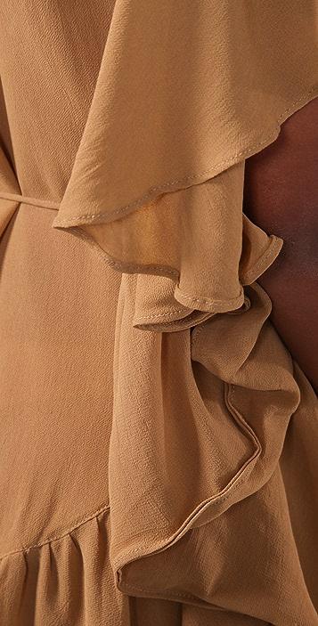 Shakuhachi Day Tripper Frill Cape Dress