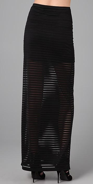 Shakuhachi Stripe Tube Skirt