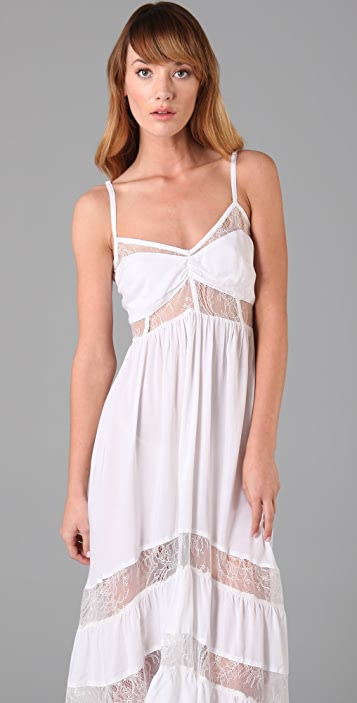 Shakuhachi Lace Tiered Long Dress
