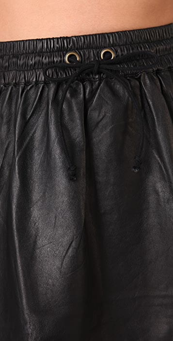 Shakuhachi Leather Sports Skirt