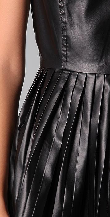 Shakuhachi Pleated Leather Dress