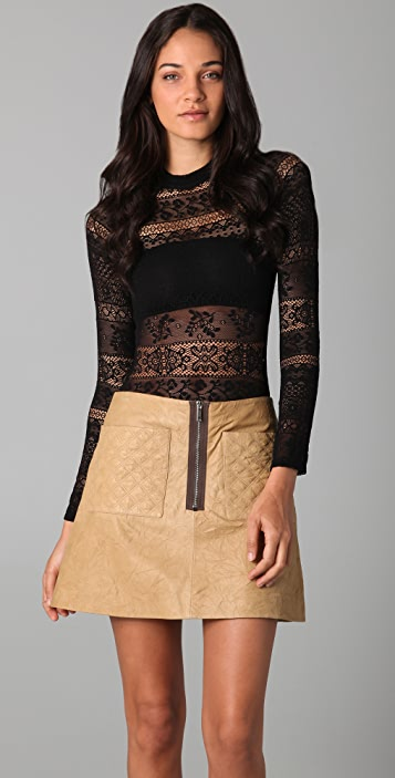 Shakuhachi Stretch Lace Bodysuit