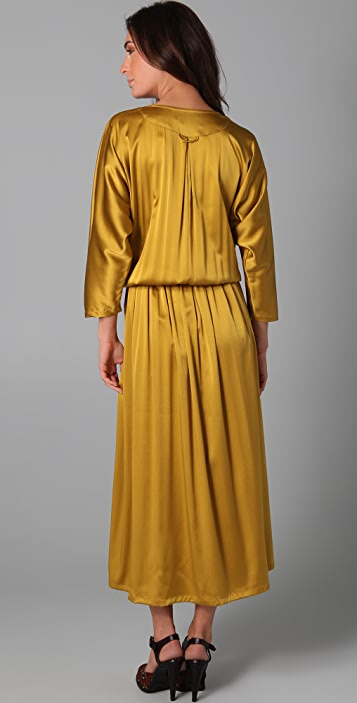 Shakuhachi Luxe Utility Drop Waist Maxi Dress