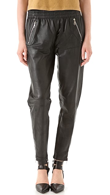 Shakuhachi Luxe Leather Track Pants