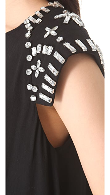 Shakuhachi Crystal Shoulder Dress
