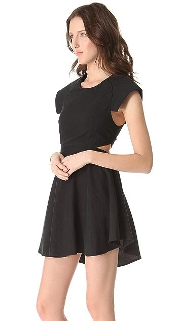 Shakuhachi Dress with Cutout Sides