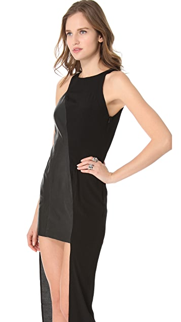 Shakuhachi Luxe Utility Dress with Leather
