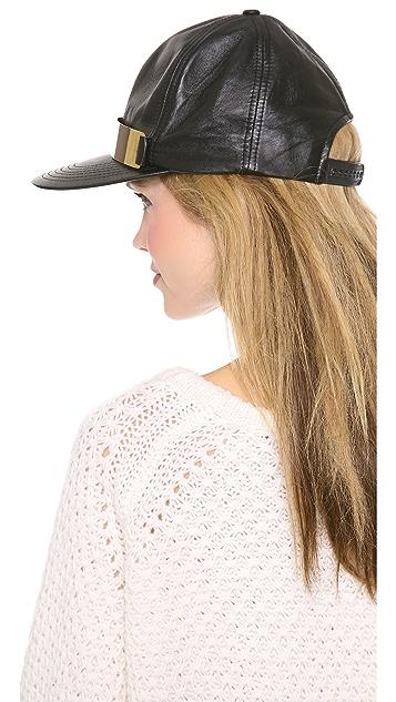 Shakuhachi Leather Baseball Hat