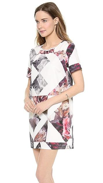 Shakuhachi Geo Print Tee Dress