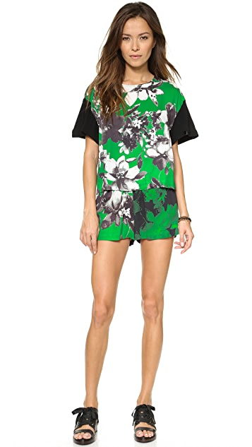 Shakuhachi Photographic Green Elastacised Shorts