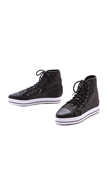 Shakuhachi Reptilian High Top Sneakers