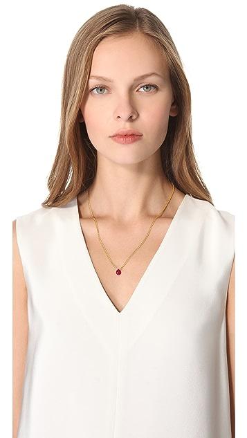 Shashi Gemstone Drop Necklace