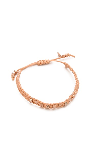 Shashi Sarah Rose Nugget Bracelet