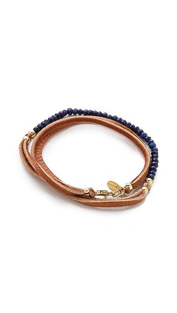 Shashi Rachel Small Leather Wrap Bracelet
