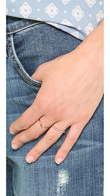 Shashi CZ Bar Ring