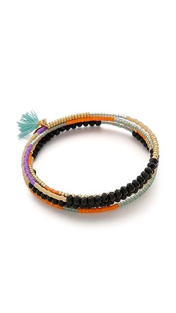 Shashi Jane Wire Wrap Bracelet